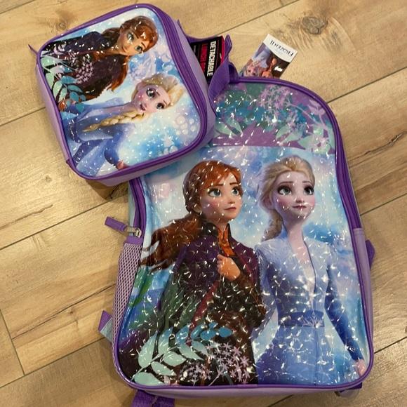 Disney Frozen 2 Backpack Lunch Bag Set NWT